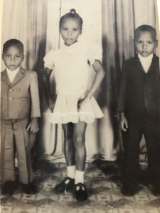 New arrival in the United States 1976. Victoria Santos and her two brothers – Frank and Eddy.